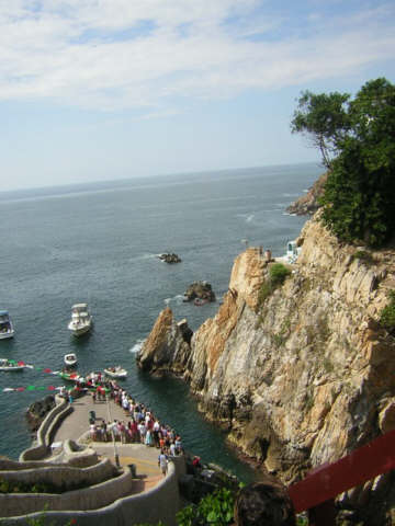 Acapulco is famous for its daring divers