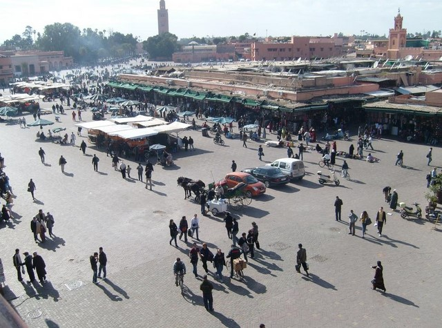 Djemaa El-Fna Square by day