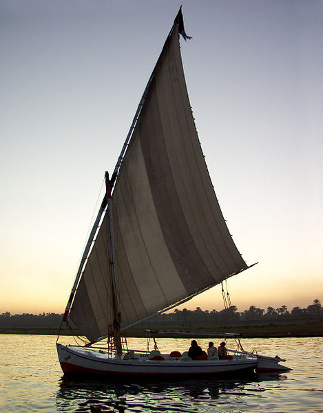 Traditional felucca sailing boat