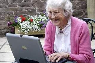 Pensioner computer user