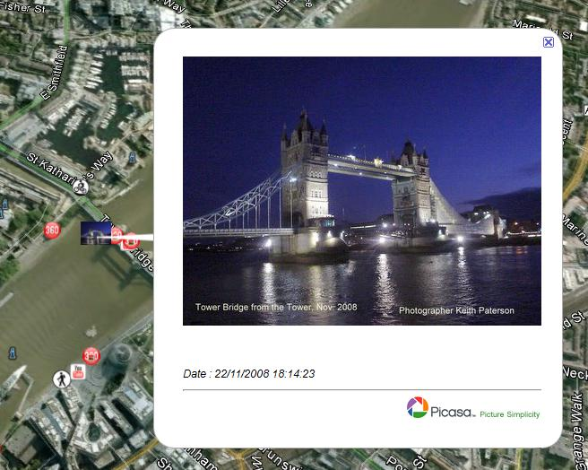 Geotagging - tower bridge
