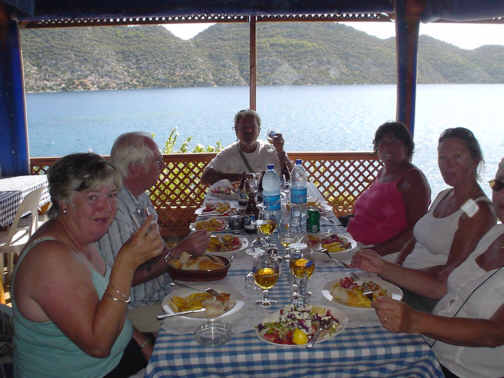 Eating out in Kekova